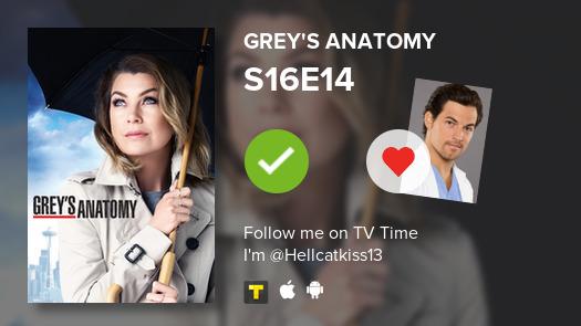 I've just watched episode S16E14 of Grey's Anatomy! #GreysAnatomy  #tvtime