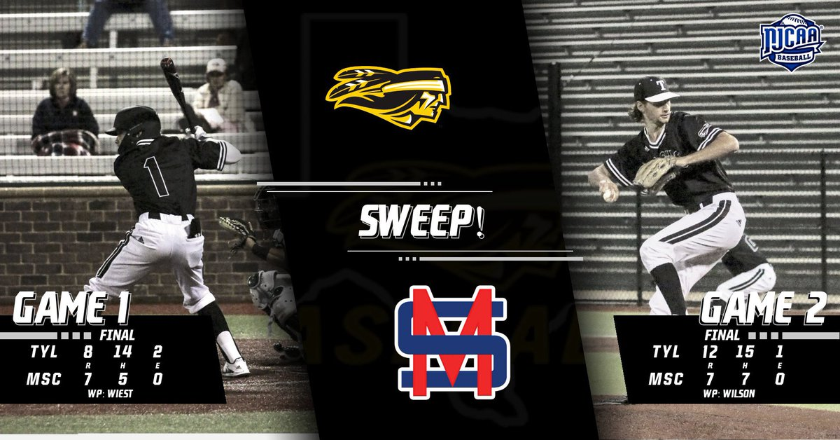 Apaches improve to 10-5 on the year after a 3 game sweep of Murray State College! 🧹🧹🧹#ChopOn