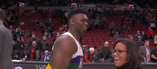 【影片】憨厚大男孩!胖虎賽後被女記者叫住一臉懵:你是想採訪我嗎?引起記者爆笑-籃球圈