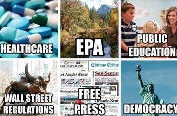 So, What have you got to lose if you vote for Trump? ➡️Healthcare ➡️EPA ➡️Public Education ➡️Free Press ➡️Democracy  ➡️Wall St Regulations #TrumpIsADisgrace #TrumpNotFitForOffice @DeZurdaTeam @AOC @Alyssa_Milano @BarbraStreisand @RefuseFascism @SusanSarandon @NBCNews @NiroLinda