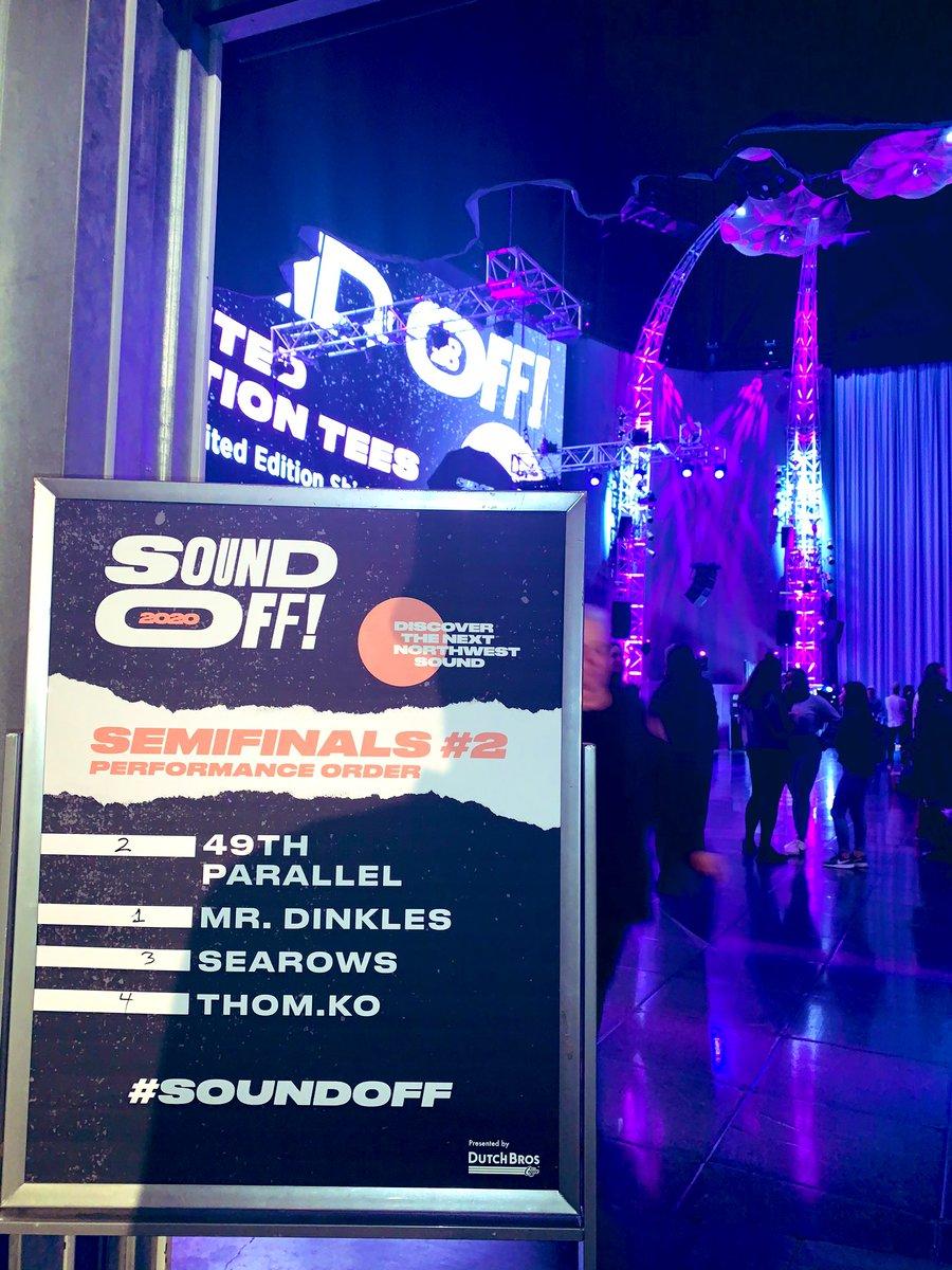 Tonight's lineup! 🎤 1️⃣ Mr. Dinkles 2️⃣ 49th Parallel 3️⃣ Searows 4️⃣ thom.ko #MoPOP x #SoundOff