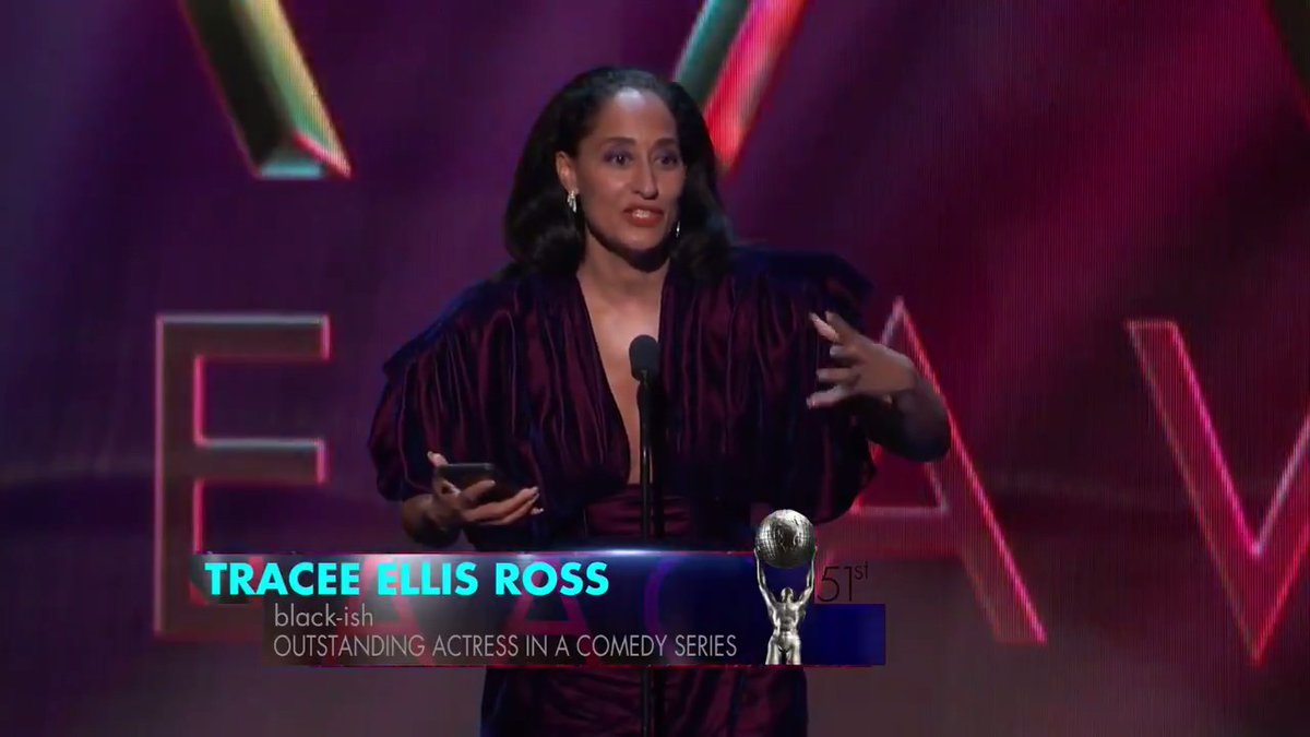 """""""We get to define ourselves. Not through how others imagine us, but through how we see ourselves. Even if our truth makes you uncomfortable."""" - @TraceeEllisRoss #NAACPImageAwards"""