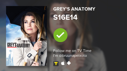 """I've just watched S16E14 """"A Diagnosis"""" of #GreysAnatomy  #tvtime"""