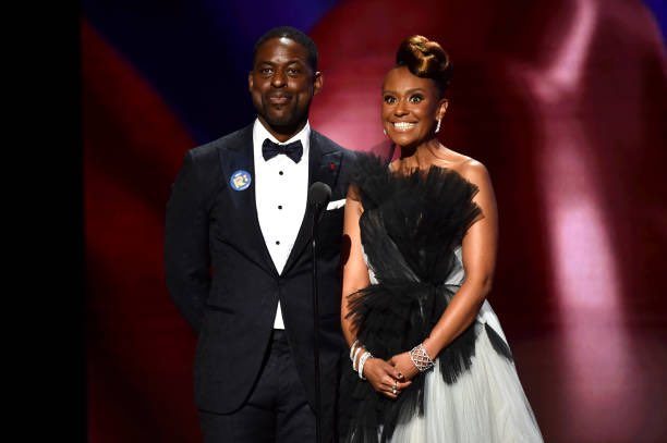 Beyond stunning, @SterlingKBrown and @michellechel on stage @naacpimageaward! #ThisIsUs #NAACPImageAward