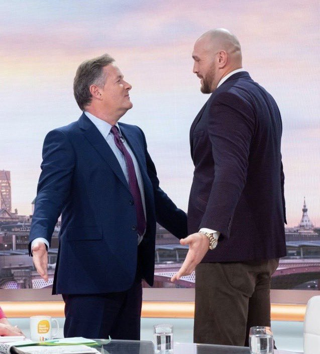 If you can stare me down with no fear @Tyson_Fury - you can beat @BronzeBomber. Go for it... 👊👊👊#TysonFury2
