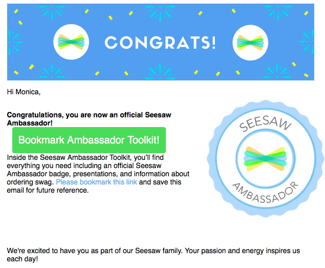Officially a Seesaw Ambassador! You too can be a Seesaw Ambassador!  Ask me how! #webbcubs #mymisd #misdexcELLS @Seesaw #studentlife #teacherlife #technology #seesawambassador #swag #learn #network #school #classroom #success #1stgrade #bilingualeducation #bilingual
