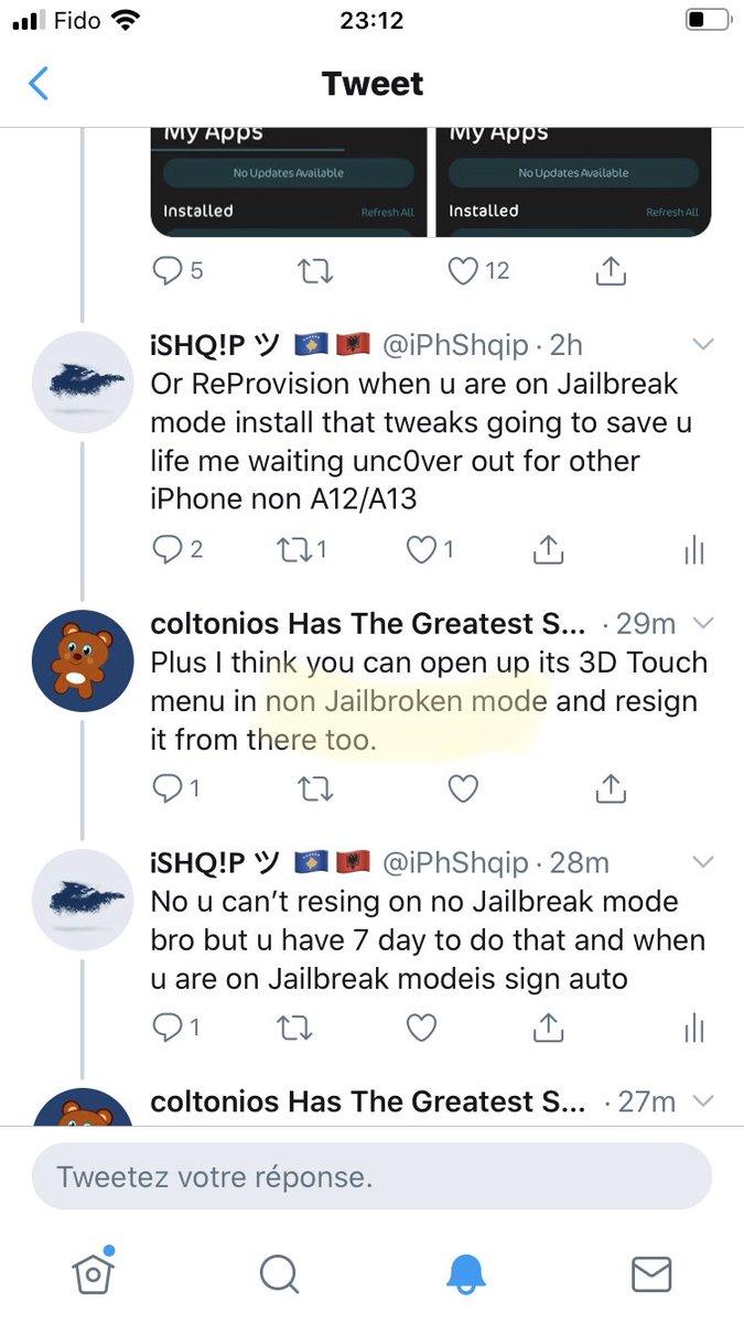 Bro u say that tweaks work on No Jailbreak Mode look how can a tweaks work on no Jailbreak mode u kidding me that's what u say lookpic.twitter.com/OZaywcR1Xq