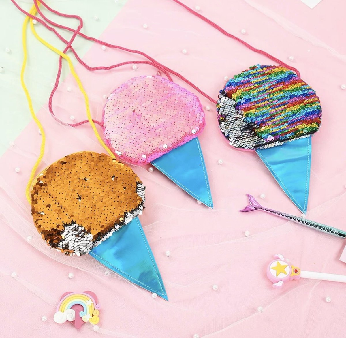 We all scream for these Ice Cream purses for the littles.   Little Pink Mermaid. Whimsical, fun, sweet & sassy pretties for little girls. Our online shop opens soon. . #littlepinkmermaid #kidsfashion #kids #girlythings #girls #girly #accessories #icecream #pursepic.twitter.com/UtRZM6Suhw