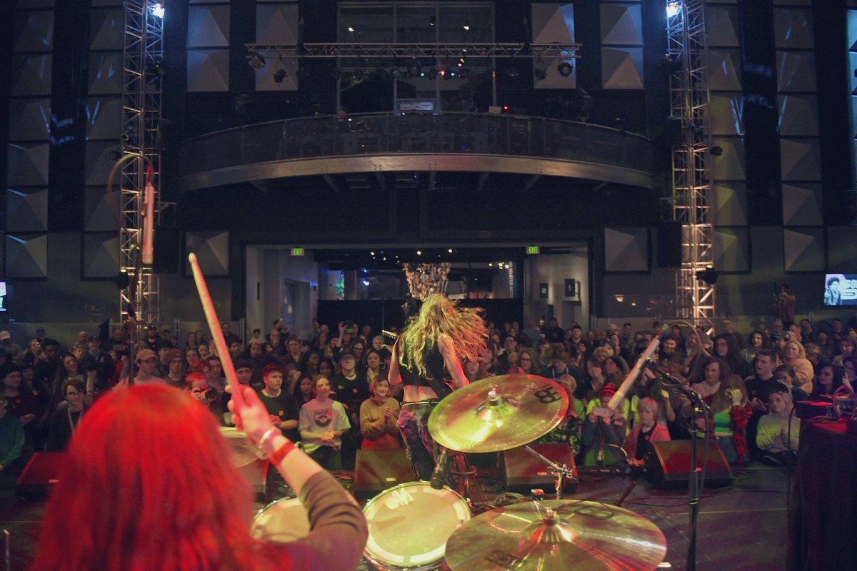 Punk duo Mr. Dinkles settin' us off right! 🐱 #MoPOP x #SoundOff