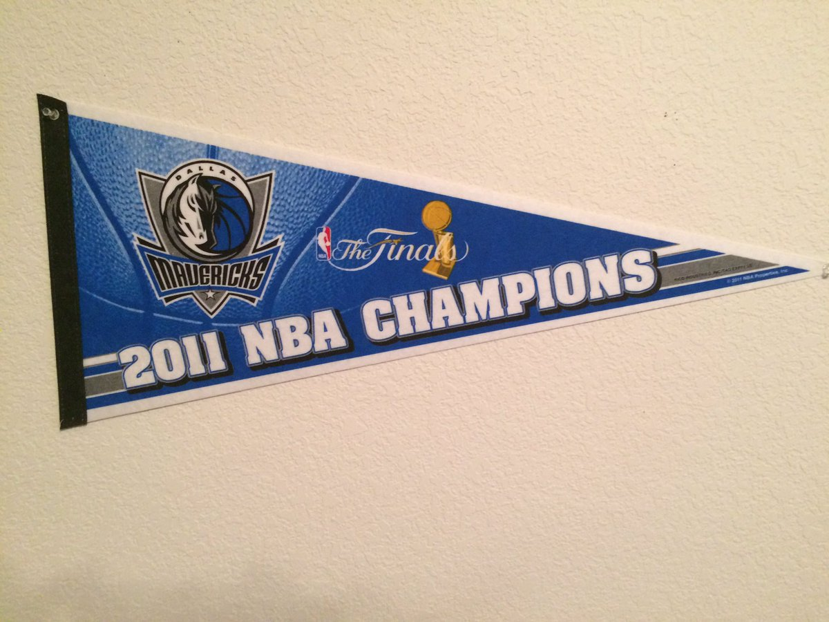 I've had my #DallasMavericks #NBA championship pennant in my game room for years. Now I've got a new champion to celebrate! #kansascitychiefs #ChiefsKingdom #NFL