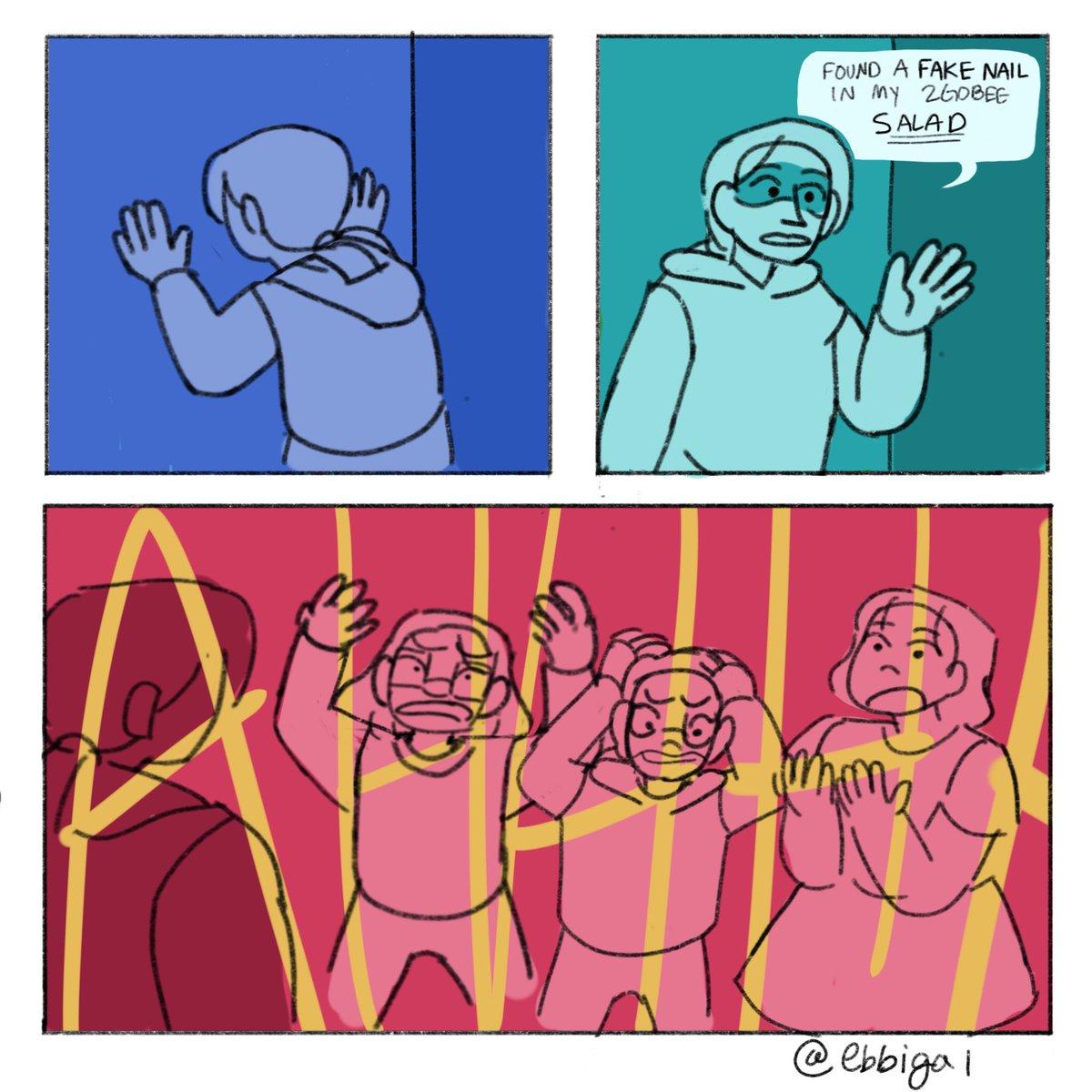 We took it harder than Miranda 😂😂  #dailycomics #comic #procreate #food #whyareweforcedtopayformealplanswhenthefoodcankillus
