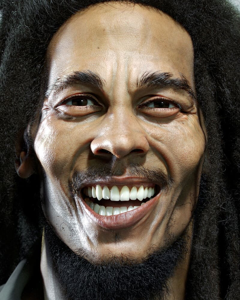 Photorealistic Bob Marley by Piotr Kujko Piotr kujko spent about 2 months making the character, using Zbrush, Mari, Maya and Arnold  @vfxexpress #photorealistic #3dmodeling #vfxexpress #zbrush #mari #maya #arnold #vfxexpress #vfxbreakdown #vfxartist