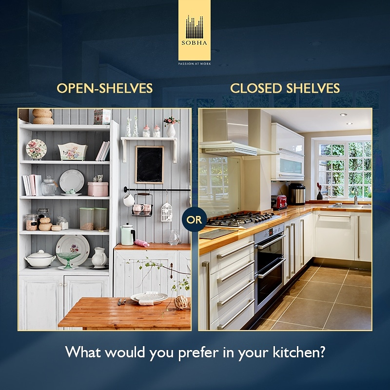 Shelving gives character to every kitchen. Which type of shelves would you prefer? Tell us in the comment section now! #SobhaNCR #PassionAtWork #Luxury #Comfort #RealEstate #RealEstateIndia #RealEstateLife #Pollpic.twitter.com/AAEGxEVcGG