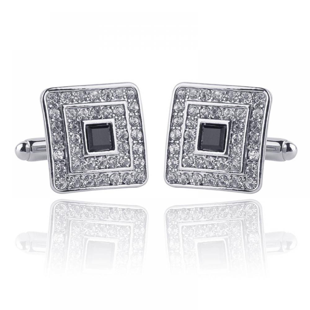 #likeback #instagram #instacool #webstagram #followher #likesforlikes #jewelry Men's Luxury Rhinestone Crystal Square Cufflinks