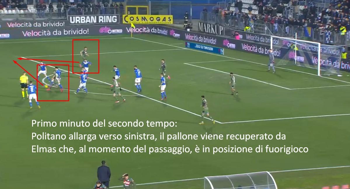 Particolare completamente sfuggitomi in #BresciaNapoli nell'episodio del calcio di rigore. Ecco perché non andava assegnato.