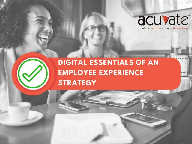 The Digital Essentials of an #EmployeeExperience Strategy Know more here: https://buff.ly/2EY0sg2 #DigitalWorkplace #DigitalTransformation #intranets #Office365 #TechNews #EmployeeExperience #TechTrends #collaborationpic.twitter.com/IziaNQQfMD