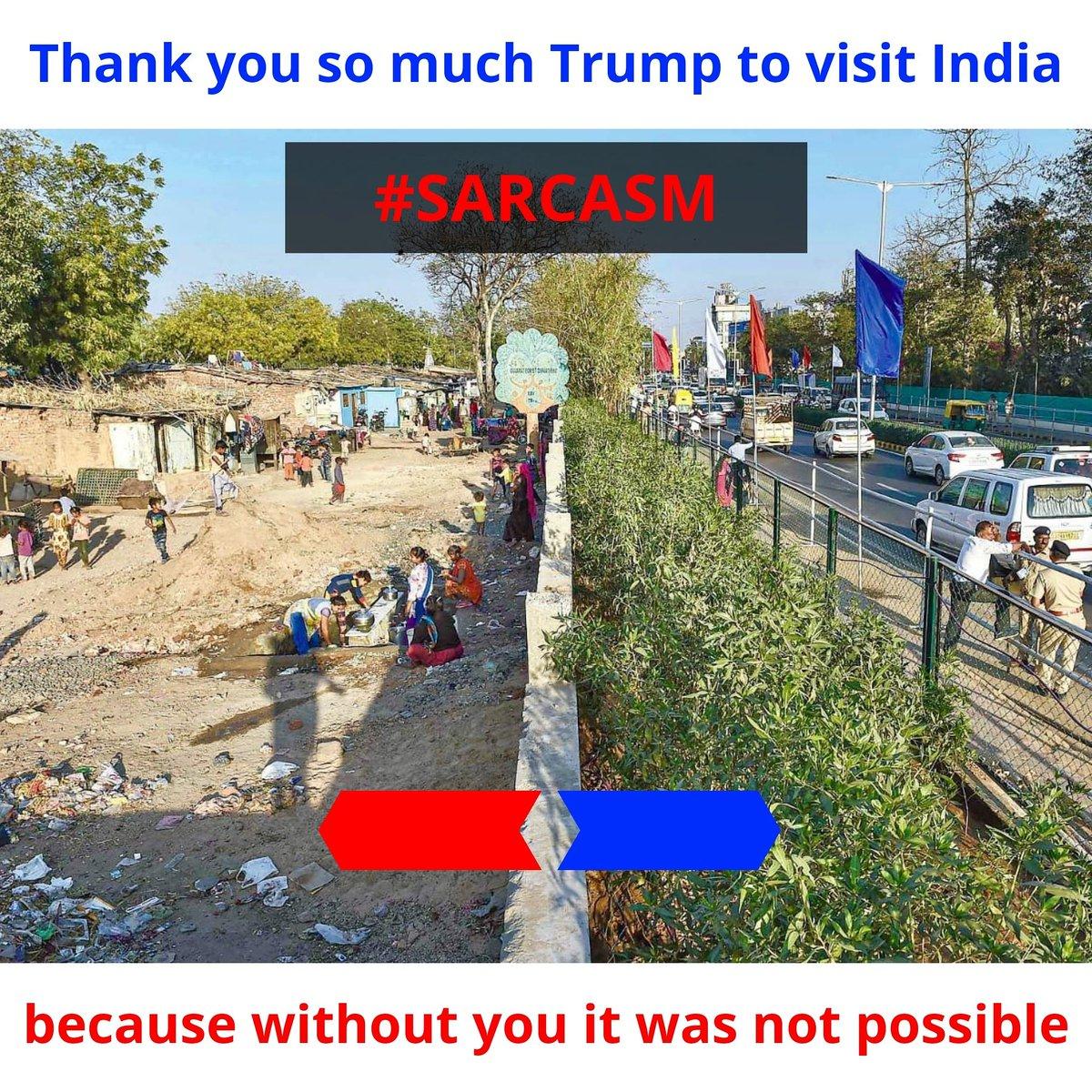 This Change  Because of Trump Visit  #pakistan #usa #trending #memes #life #style #kolkata #beautiful #punjab #jaipur #likes #music #naturephotography #world #Bangalore #hyderabad #bjp #surat #traveler #beauty #ahmedabad #TrumpIndiaVisit #trump #NamasteTrump