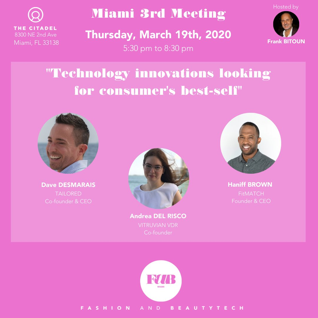 We will be with the @fab_nz community on March 19 to debate about technology innovations in fashion with 3 iconic early stage startups founders.  Register here to join this insigjtful panel :   #fashion #startup #miami #entrepreneurs #innovation #fit