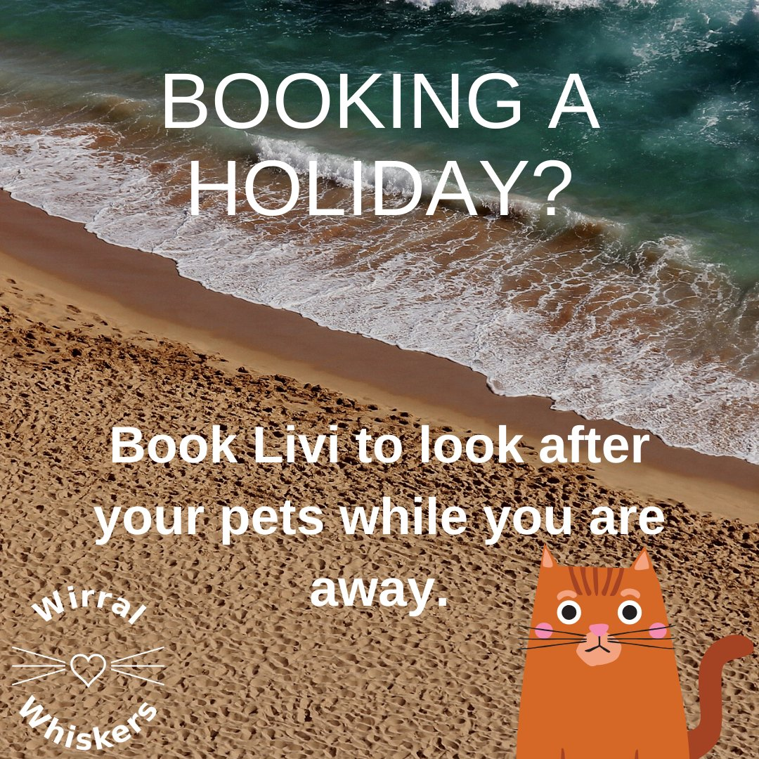 Thinking of a break away? If so, don't forget to book holiday care for your pet.   #catsitting #catsitter #cats #catsofinstagram #petsitting #petsitter #housesitter #instacat #catsitters #dogsitter #instagram #catstagram #catlovers #catlover #wirralpets #wirralcats #exoticpets