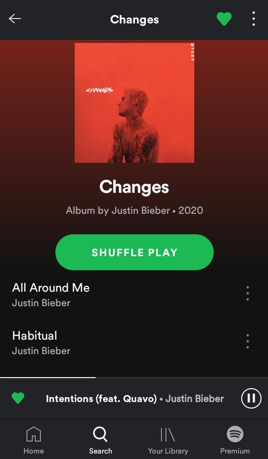 Finally!! #Changes is out 😍 N #Biebs is back in the game ♥️ Actually he was never out of the game ❤ #Jb u n ur songs r beyond amazing 💜 I luv u so much @justinbieber 😘😘 #BelieberForever #JustinBieber #CHANGESOUTNOW  #JustinIsBack