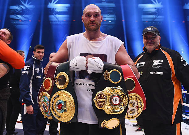He did it in Dusseldorf 🇩🇪 He did it in Las Vegas 🇺🇸 Tyson Fury is some man 👏