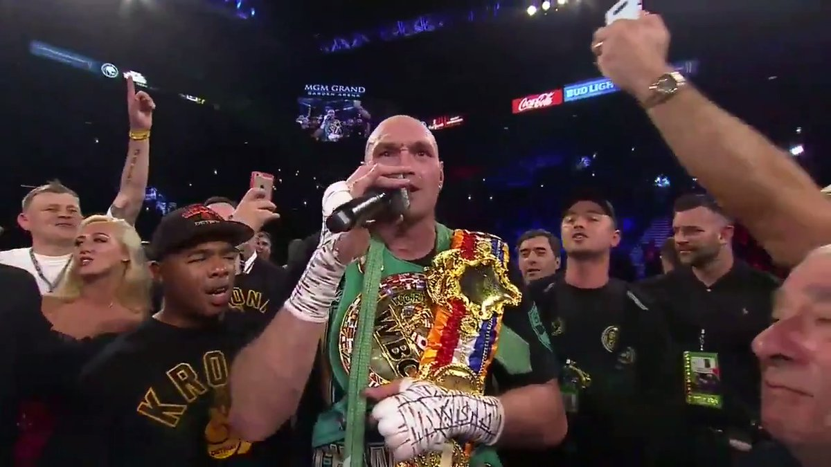 Tyson Fury really sang 'American Pie' after beating Deontay Wilder #WilderFury2 😂👑 (via @trboxing)