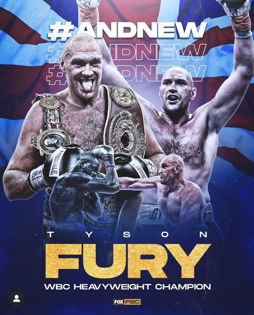 Congratulations to Tyson Fury..did what he was supposed to do..Maybe now Wilder will learn the art of Boxing, how to put/keep his HANDS UP and how not to step straight back with his hands down..just defense period but he took his lost like a Man..made no excuses.. held himself