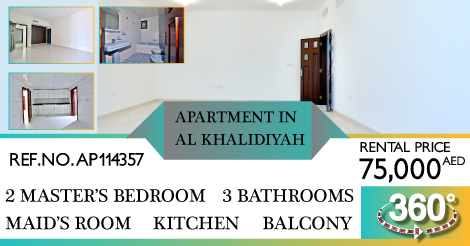 For Rent,  Exclusive! Fine Home International group offers you this 2 bedrooms apartment in Al Khalidiyah, Abu Dhabi!  For more information please do contact Fine Home International Group: 026592300  Or visit our website: http://www.finehomeint.com #realestatelife #realestatenewspic.twitter.com/oqqPGRUICV