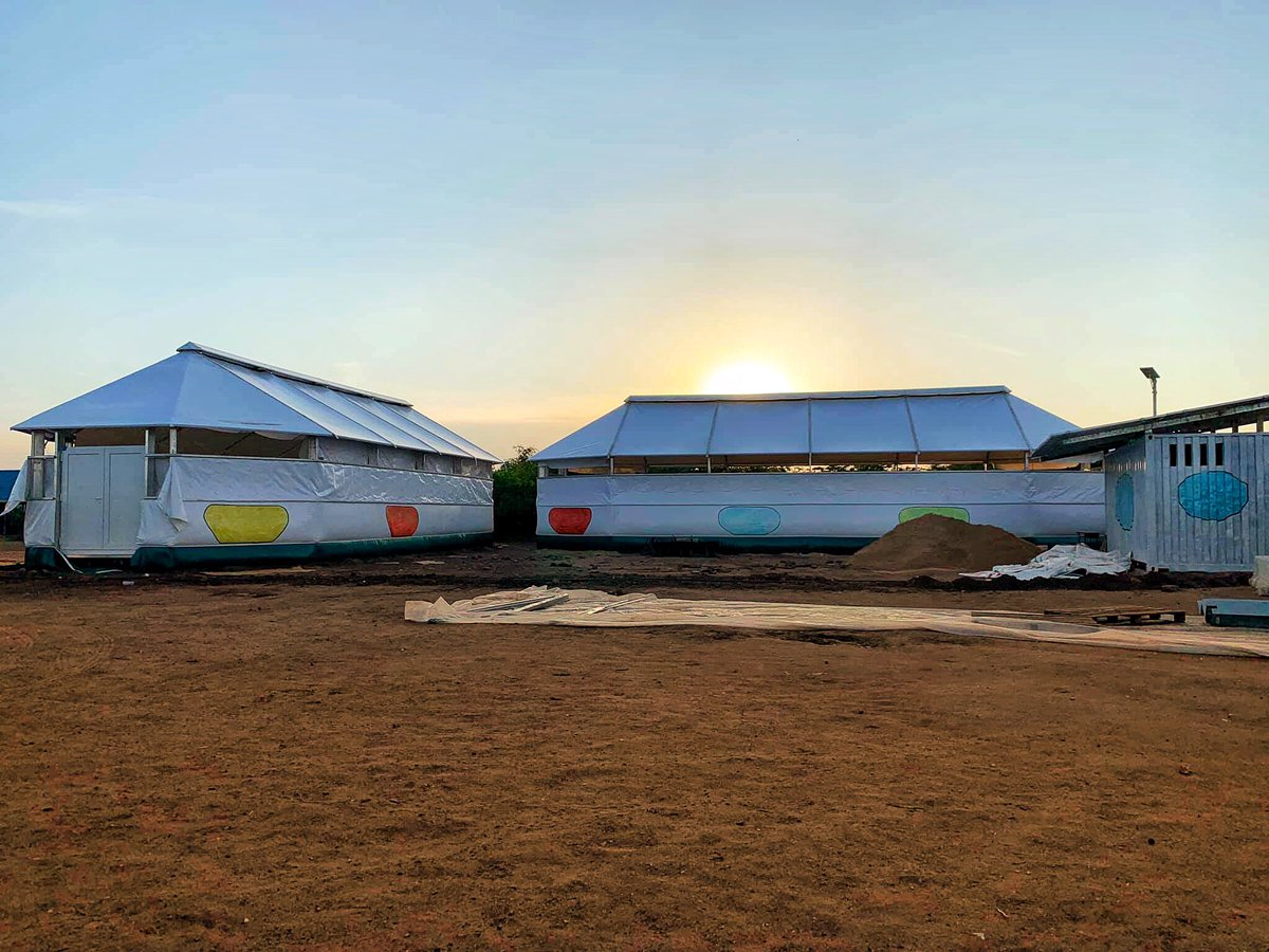 Our 2 Maggie aka Innovation Lab Schools nearly ready to house students. #projectkakuma