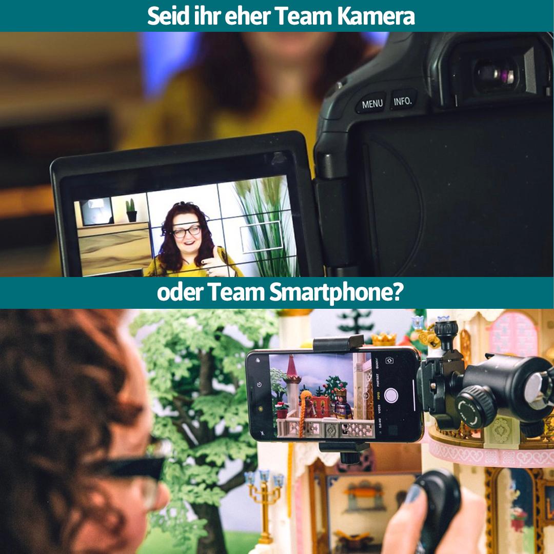 Mein Smartphone lässt jede Hightech-Kamera alt aussehen? Never change a winning team ist für viele YouTuber die Devise. Manche schwören auf ihr Smartphone, um ihre Videos aufzunehmen, andere wollen stets die neueste Technik nutzen. Bist du Team Kamera oder Team Smartphone? pic.twitter.com/D7FZ1qiuSh