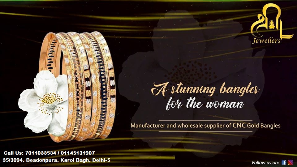 Exclusive collection of beautiful elegant bangles which complement all occasions. For orders call : 7011033534 / 01145131907 #PerfectJewellery #ShreeLaxmiJewellers #GoldJewellery #Jewellery #ComputerizedBangleManufacturer #GoodJewellery #ComputerizedBangles #BeautifulBangles