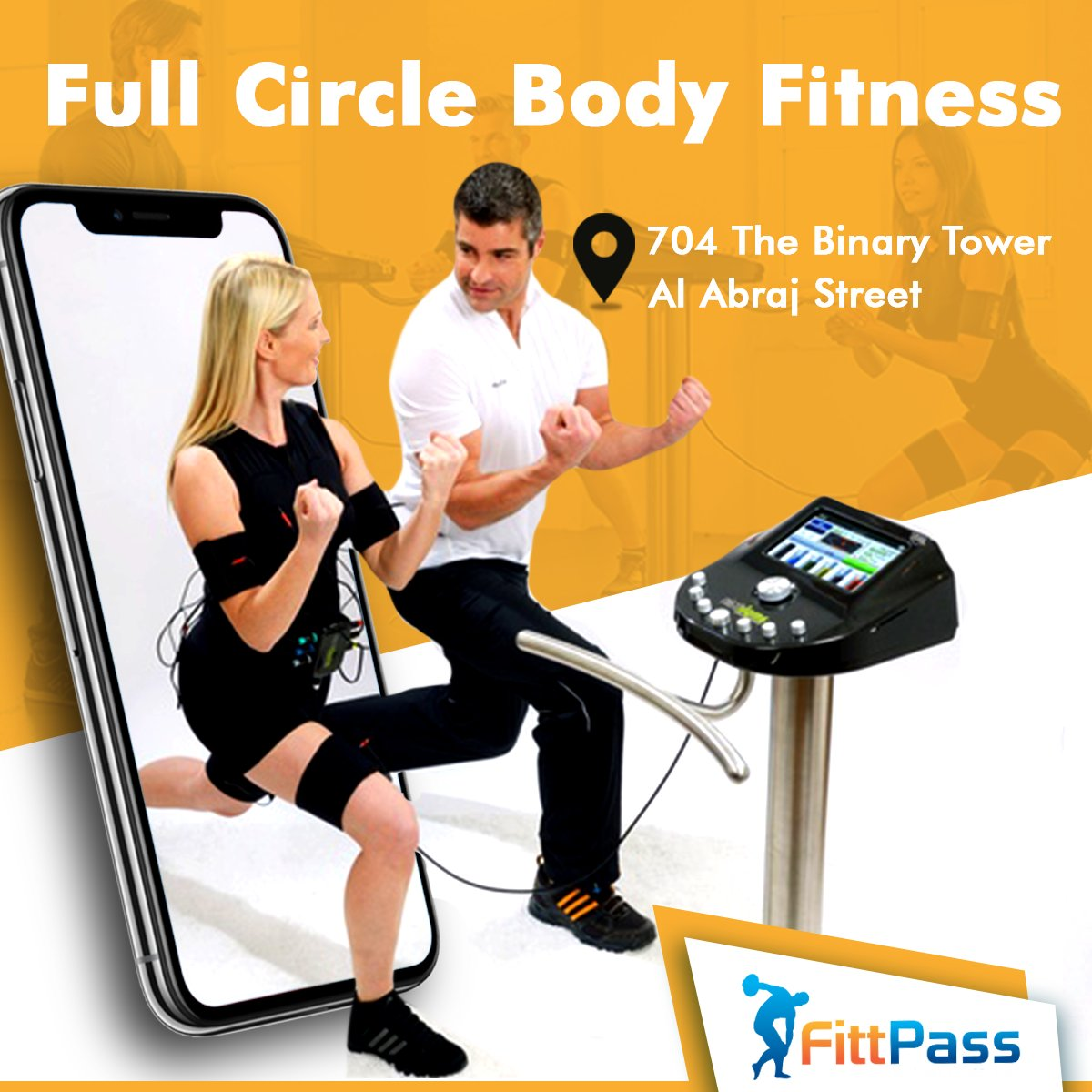 Pressed for time but still want to get a workout in? Check out @fullcirclebody_ and train for only 20 minutes 2-3 a week! Buy your pass today and save up to 70% exclusively on http://FittPass.com  => https://bit.ly/2HOiksc   #EMSTraining #EMSDubai #DubaiEMS #FittPass