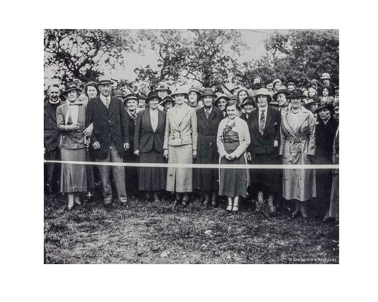 Today is #TennisDay The aim of this event is to encourage people to play tennis. This image taken some time in the early twentieth century, showing the opening of a new tennis court in Welshampton, illustrates the heritage of the sport in Shropshire (PH/W/7/1/113) pic.twitter.com/e8y8NHD7dz