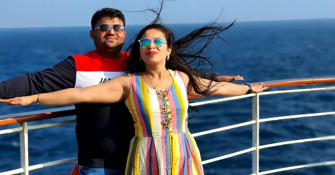 Feel the wind & the true magic of romance! Play out your favourite romantic movie poses onboard #JaleshCruises  #BestOfJalesh captured by Milan Sardhara #Karnika #CruiseLife #Cruiseliner #Cruiseship #CruiseHoliday  #CoupleGoals #TravelCouple #CouplesOfInstagram #LoveIsLovepic.twitter.com/xXQONro5lr