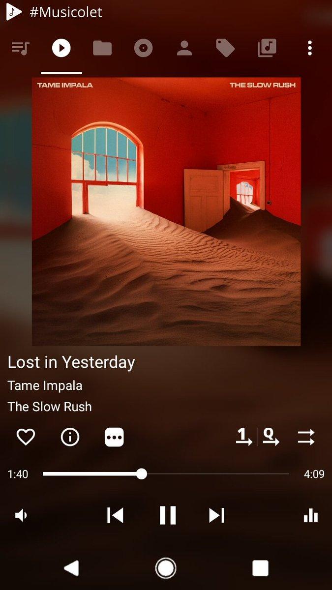 Listening #LostinYesterday by @tameimpala Parah sih ni album bener2 bikin orgasm,beberapa hari ini nonstop dengerin #TheSlowRush  ❤❤❤