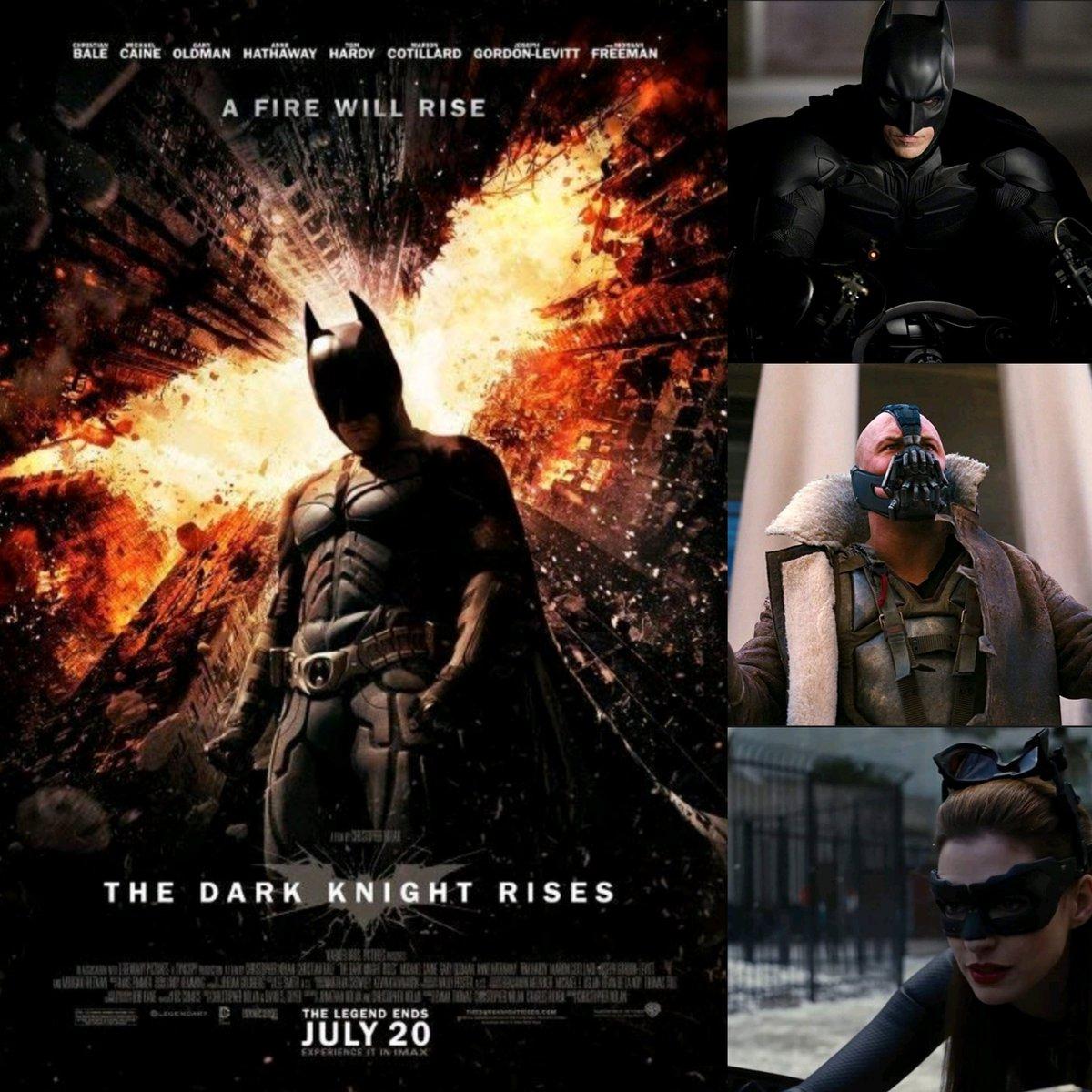 Promote DC Movies - The Dark Knight Rises. I would like to take you back to the year 2012 when #thedarkknightrises arrived at the cinema. #christianbale #Batman #michaelcaine #garyoldman #tomhardy #annehathaway #josephgordonlevitt #marioncotillard #morganfreeman #dccomicspic.twitter.com/gJKsqLE6JV