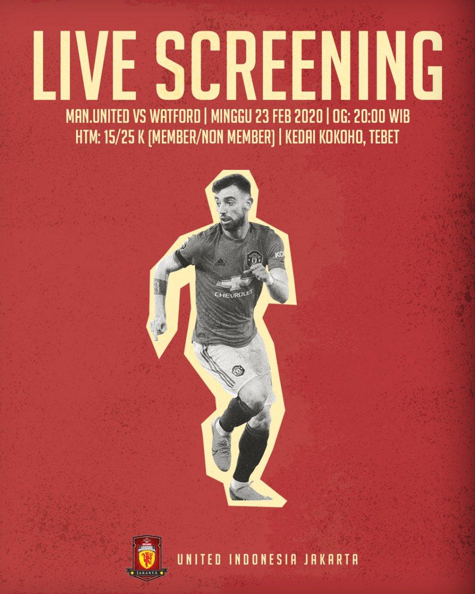 #LiveScreening malam ini, yuk nobar kita, Manchester United vs Watford, open gate jam 20.00 yah, htm? 15/25k untuk member/non member, sampai ketemu di Kedai Kokoho Tebet!   #UiJKT https://t.co/sLMtAR5X6c