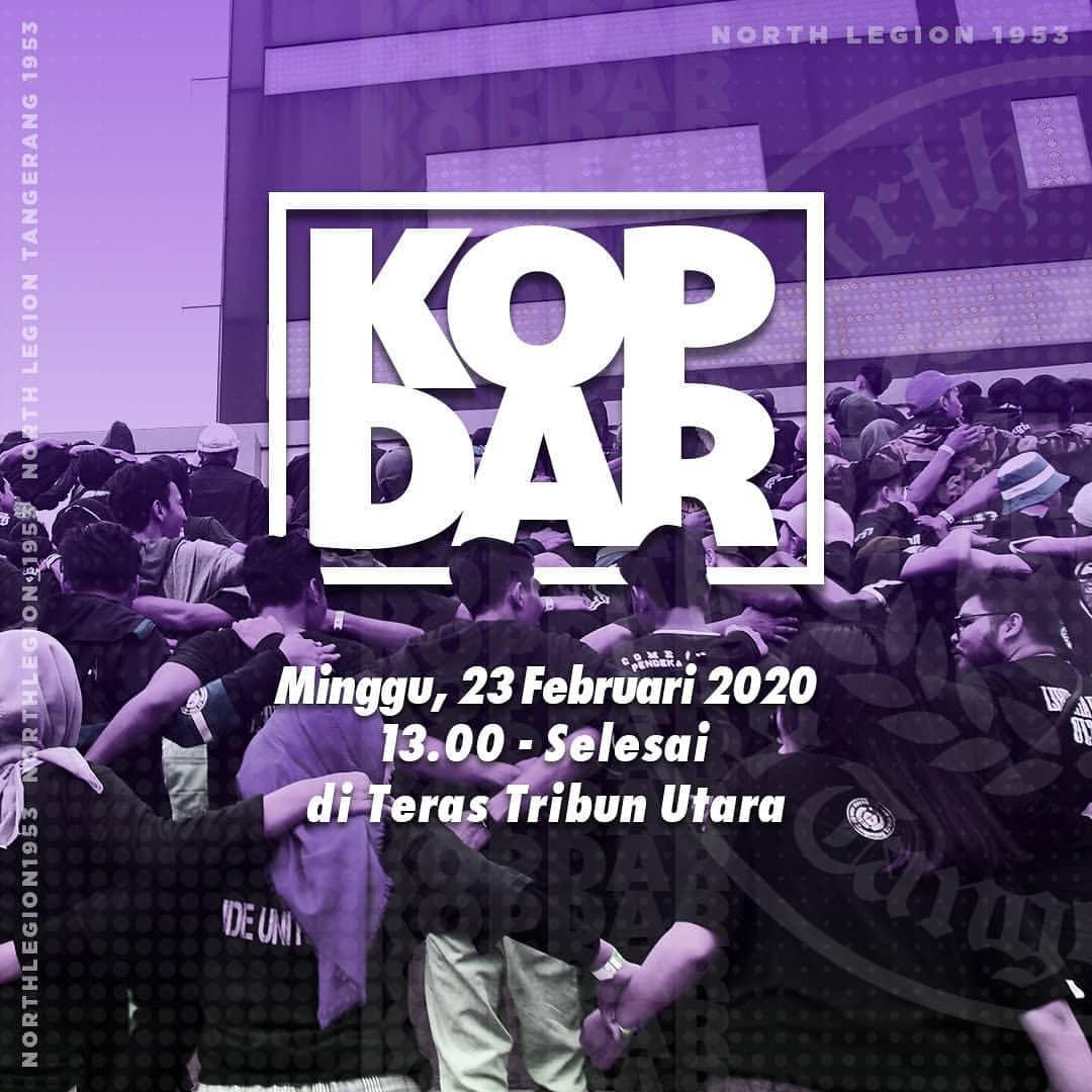 Hari ini Kami sedang melangsungkan Kopdar seluruh sezione NL di Stadion Benteng Taruna Kelapa Dua. Kopdar hari ini untuk mempersiapkan dan menyambut Liga 1 2020 yang sebentar lagi di mulai 🍻 #Northlegion #kopdar #Tangerang #persita