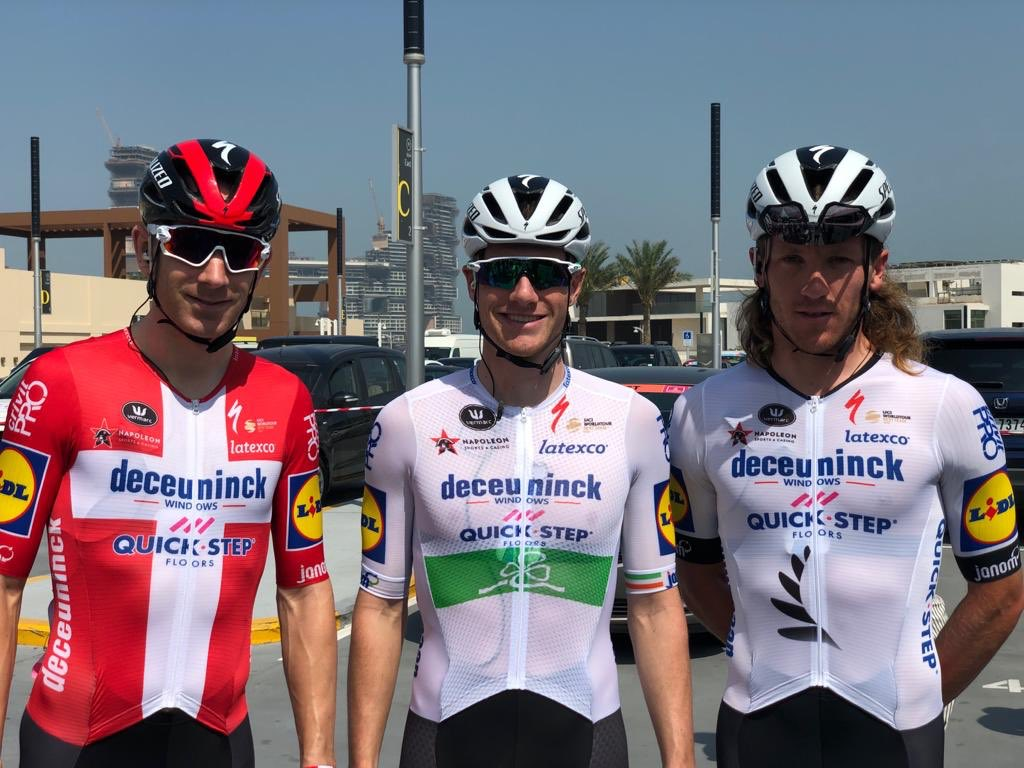 "Deceuninck-QuickStep on Twitter: ""Our three national champions in the #UAETour are ready for the start of the race 😃… """