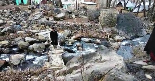 Construction of Foot bridge in Zenihal Banihal started years ago not completed yet