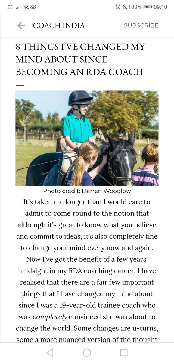 NEW this week on India's blog!   Have you changed your mind on anything during your involvement with @RDAnational?   https://www.rdacoachindia.co.uk/2020/02/8-things-ive-changed-my-mind-about.html?m=1 …  #RidingfortheDisabled #EquestrianBlogger #EquineBlogShare #HorseHourpic.twitter.com/4n13t9Q4vk