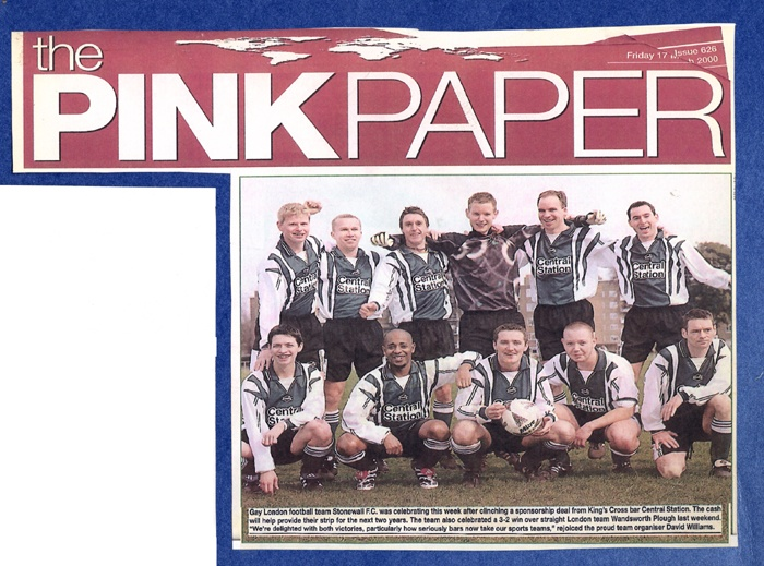 Stonewall FC sponsored by Central Station 2000. #IslingtonsPride #LGBTHM20