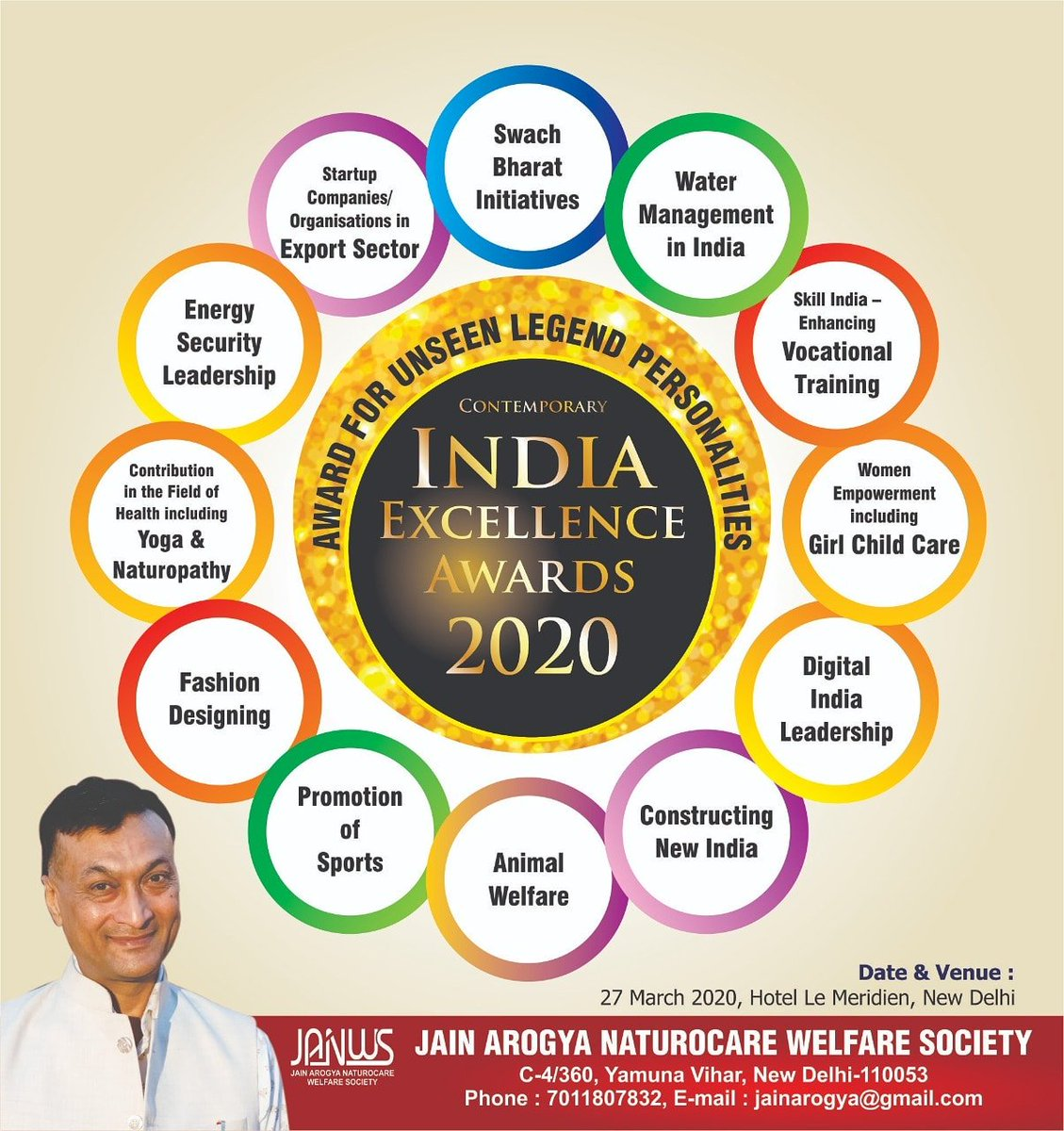 Ready for Mega Event held in New Delhi, Summit & Award Ceremony. #IndiaExellenceAwards2020 #ContemporaryIssue #India #NewDelhi #AnilJain #YogaGuru #DrAnilJain #Health #Yoga #Fitness #Healthy #Nation #MegaEvent #Summit #AwardFunction