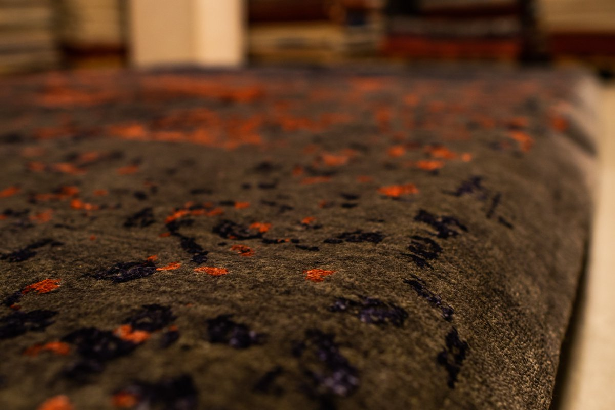 Watch the stellar performance of our weavers on this 1.84 by 2.54 piece from our Erased Design Collection!The rich colors and premium fabric speak for themselves!  #BEST #handmade #CarpetContest #Magic #designer #interiordecor #homedecor #Iran #ArtofLegends #organic #artisan