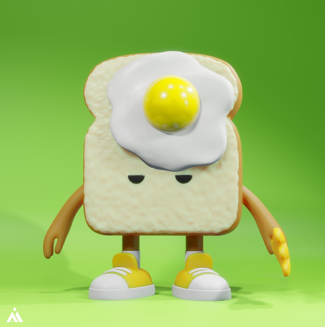 Prototype modeling of resin toy Toast bread boy Fried egg#3dcg #blender #arttoy #designertoy #アートトイ #デザイントイpic.twitter.com/W2ihW4CEvu