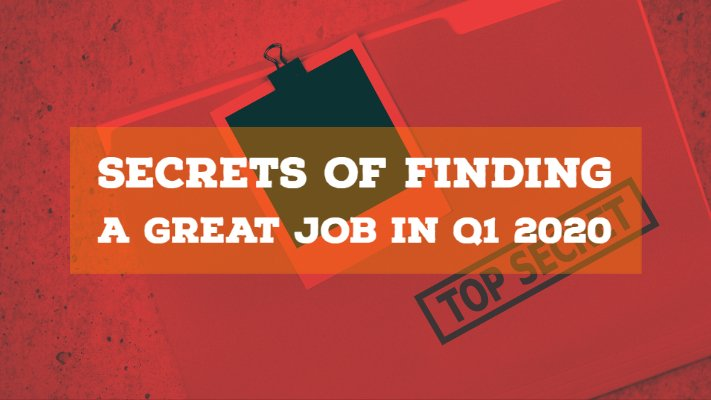 Secrets Of Finding A Great #Job In Q1 2020 - Thursday 2/27/20 7pmET/4pmPT reg@ http://bit.ly/38OHgMb  #resume #career #careers #jobsearch #jobs #ageism #unemployment #careerchange