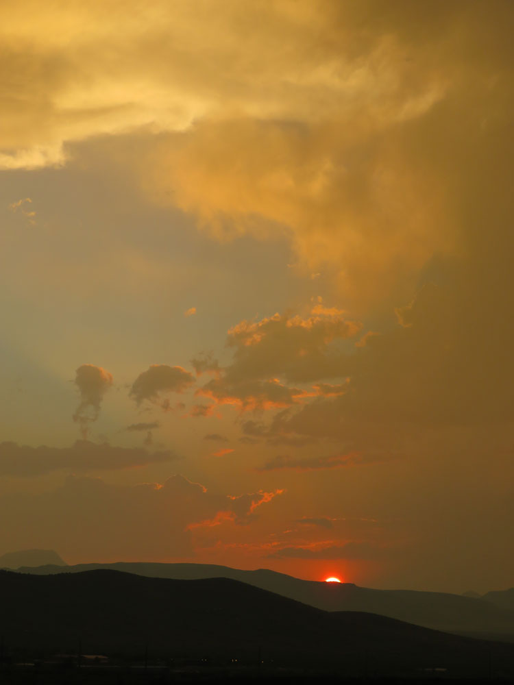"#AlpineTXPhoto: ""Red Sunset"" by John B. Davis #alpinetexas #sunset #desert #mountains"