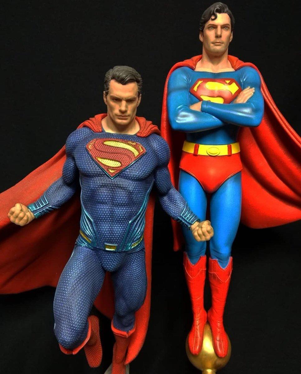 Duas peças maravilhosas, que adoraria ter na coleção, mas que ficam apenas no Sonho de Consumo.   #DCComics #Superman #KalEl #Kryptonian #ClarkKent #Collectible #TheManofSteel #Figurine #HenryCavill #ChristopherReeve #DCFilms #TheWorldsofDC #DCExtendedUniverse pic.twitter.com/ymi7R9bvam