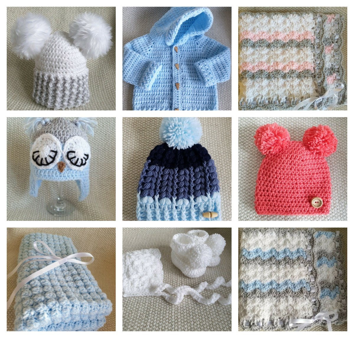 Good morning #UKGiftAM Just a few of my #handmade #baby items in stock. 👇👇👇👇