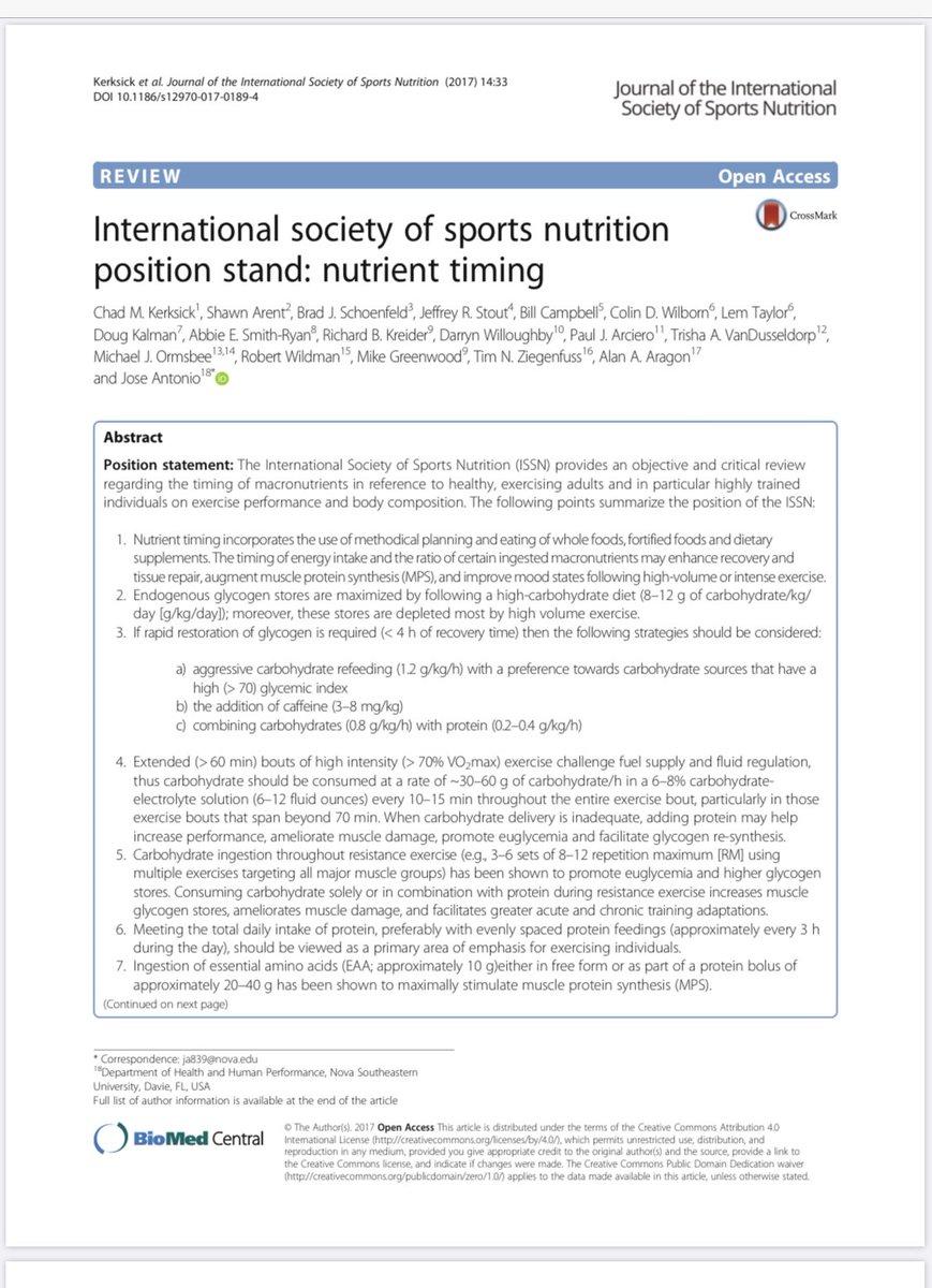 #SportNutrition : #Nutrient Timingpic.twitter.com/Vjih2JI2Ss